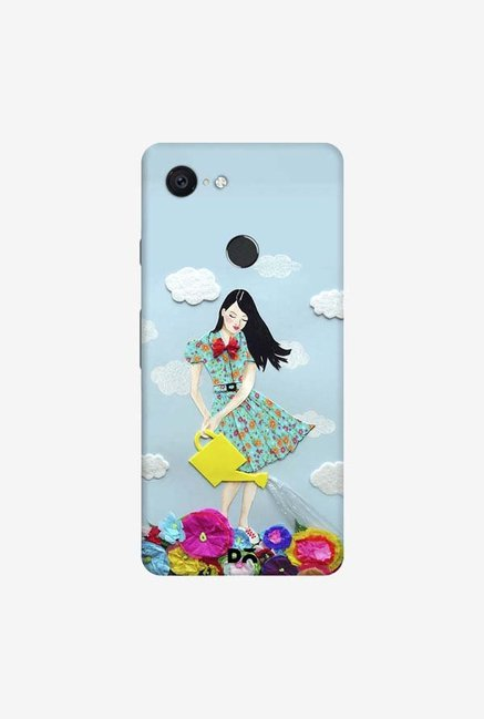 DailyObjects Girl In Flowerland Case Cover For Google Pixel 3