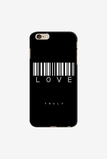 DailyObjects Barcode Love Truly Black Case For iPhone 6 Plus
