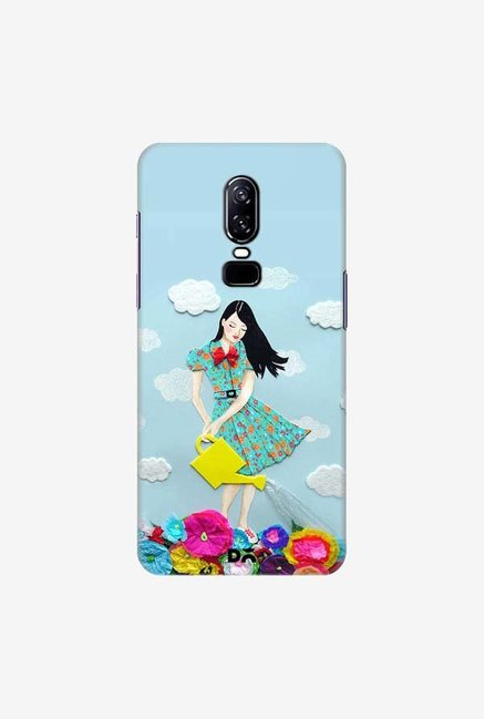 DailyObjects Girl In Flowerland Case Cover For OnePlus 6