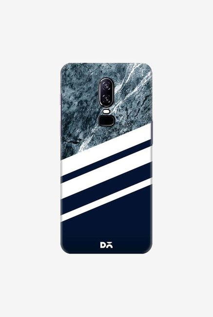 DailyObjects Marble Navy Case Cover For OnePlus 6