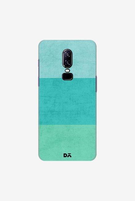 DailyObjects Three Stripes Teal Case Cover For OnePlus 6