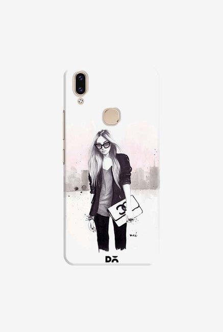DailyObjects Back In Black Case Cover For Vivo V9