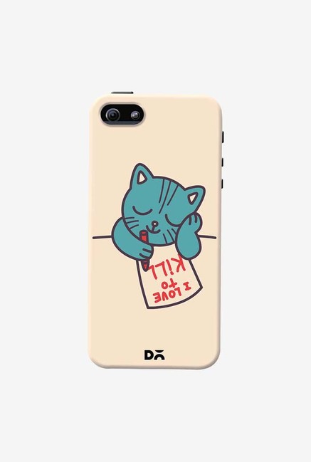 DailyObjects I Love To Kill Cat Case Cover For iPhone 5/5S