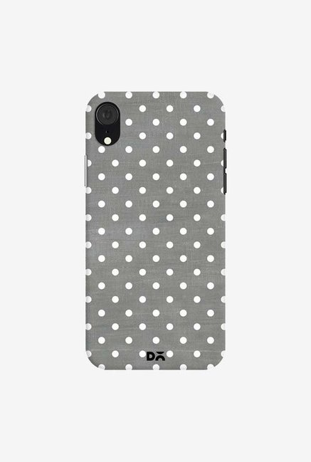 DailyObjects Dark Gray Swiss Dots Case Cover For iPhone XR