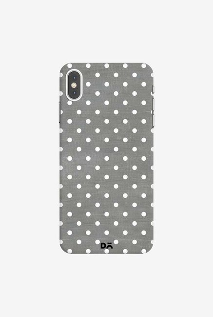 DailyObjects Dark Gray Swiss Dots Case Cover For iPhone XS Max