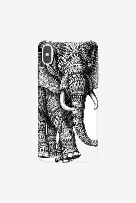 DailyObjects Ornate Black Elephant Case Cover For iPhone XS Max