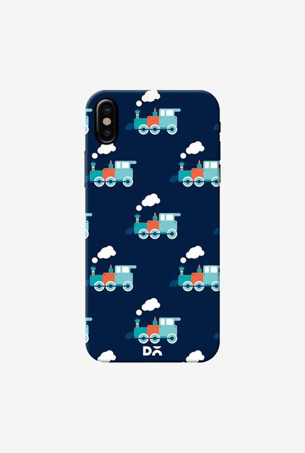 DailyObjects Little Train Blue Case Cover For iPhone X