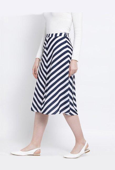 14fa688b58 Buy United Colors of Benetton Navy & White Striped Skirt for Women ...