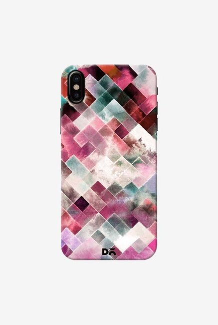 DailyObjects Moody Geometry Pink Case Cover For iPhone X