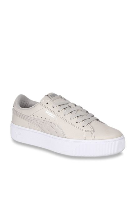 Buy Puma Vikky Stacked L Beige Sneakers