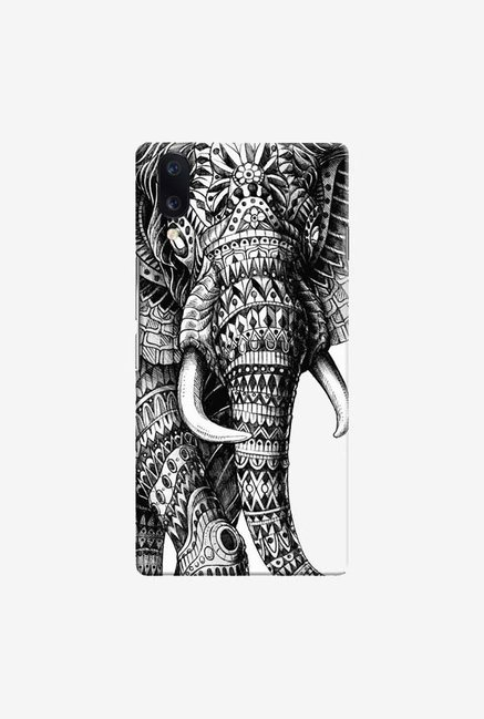 DailyObjects Ornate Black Elephant Case Cover For Vivo V11 Pro