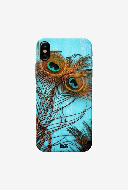 DailyObjects 3 Peacock Feathers Case Cover For iPhone XS