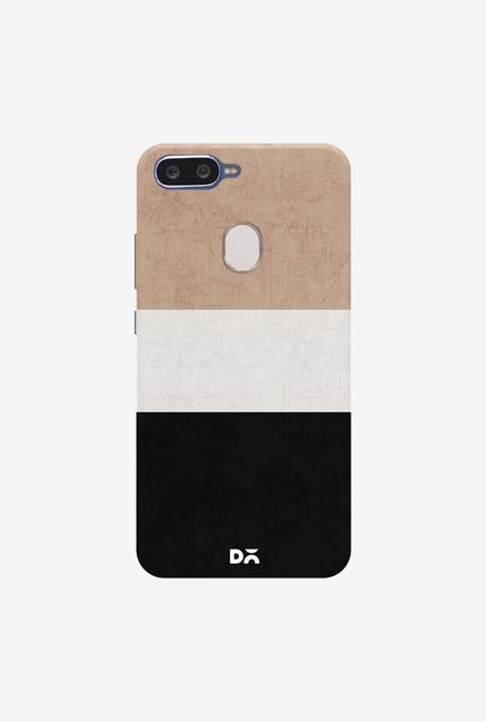 DailyObjects Natural Cream and Black Case Cover For Oppo F9