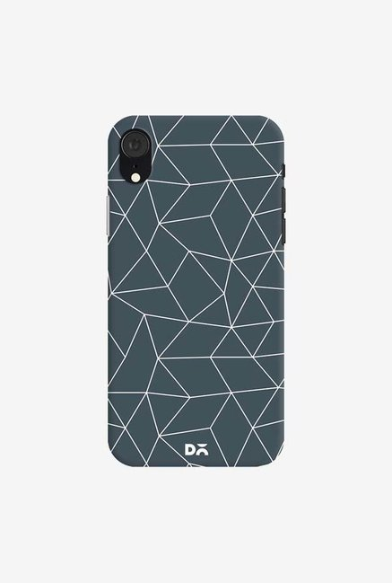DailyObjects Geometric Maze Stone Gray Case Cover For iPhone XR