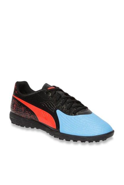 Puma ONE 19.4 TT Blue Azur   Black Football Shoes