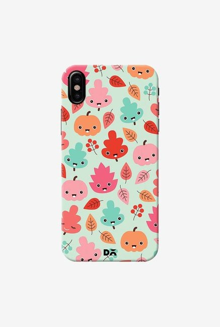 DailyObjects Kawaii Leaves Case Cover For iPhone XS