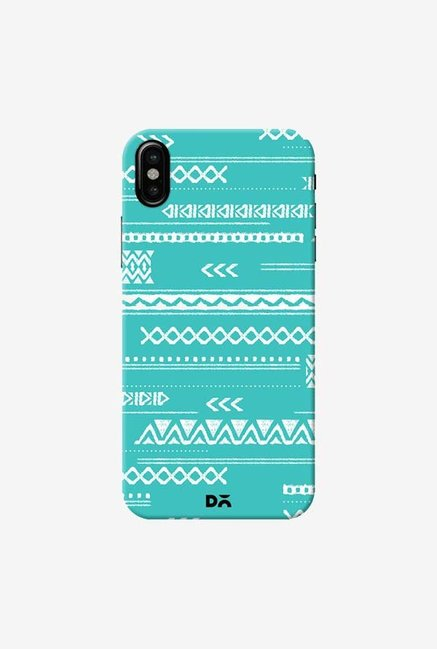 DailyObjects Modern Aztec Blue Case Cover For iPhone XS