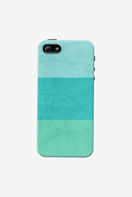 DailyObjects Three Stripes Teal Case For iPhone 5/5S