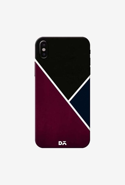 DailyObjects Red And Royal Case Cover For iPhone XS