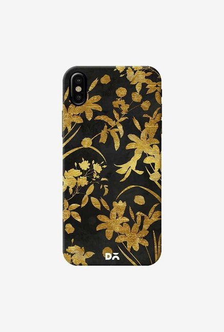 DailyObjects Golden Flowers 2 Case Cover For iPhone XS