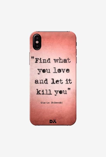 DailyObjects Bukowski Case Cover For iPhone XS