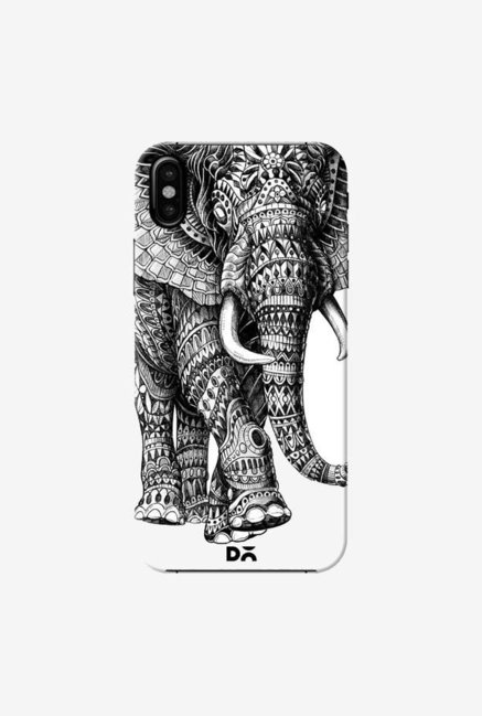 DailyObjects Ornate Black Elephant Case Cover For iPhone XS