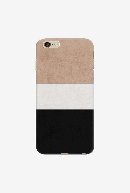 DailyObjects Natural Cream and Black Case For iPhone 6 Plus