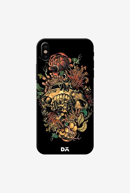 DailyObjects Flora Skull 2 Case Cover For iPhone XS