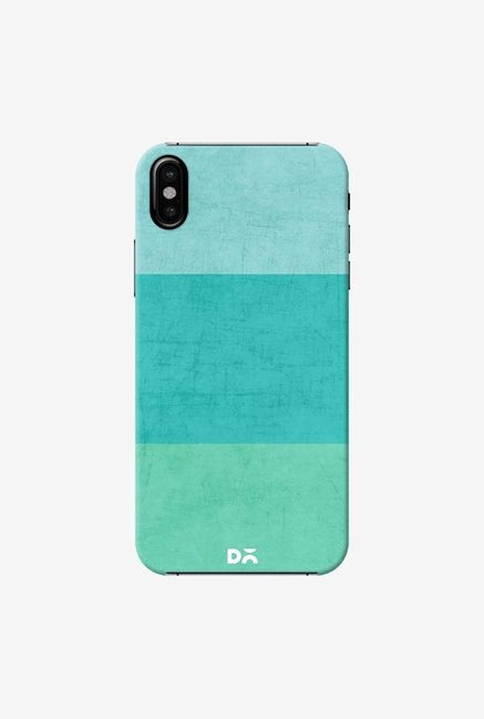 DailyObjects Three Stripes Teal Case Cover For iPhone XS