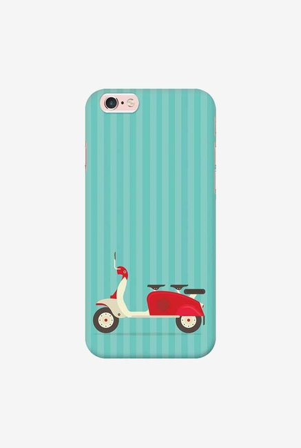 DailyObjects 3 To Go Scooter Blue Striped Case For iPhone 6s