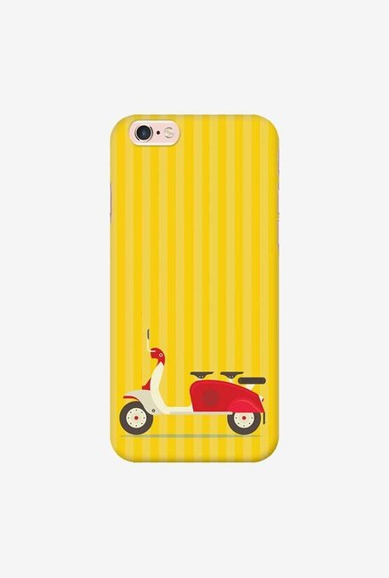 DailyObjects 3 To Go Scooter Yellow Striped Case For iPhone 6s