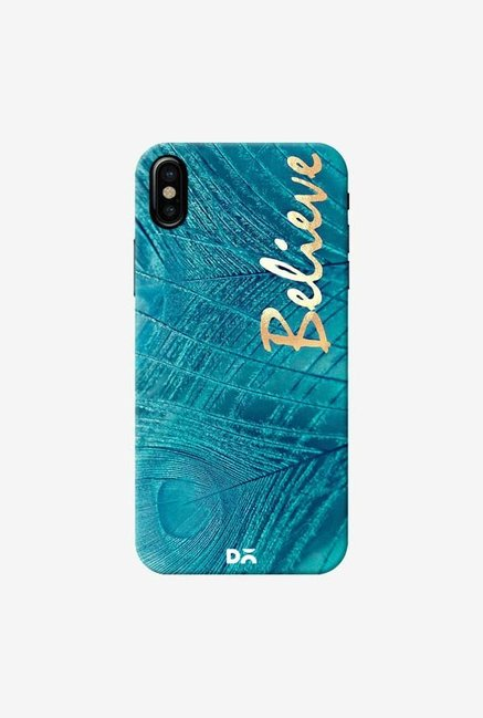 DailyObjects Believe In Aqua Case Cover For iPhone XS