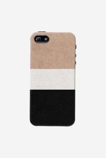 DailyObjects Natural Cream and Black Case For iPhone 5/5S