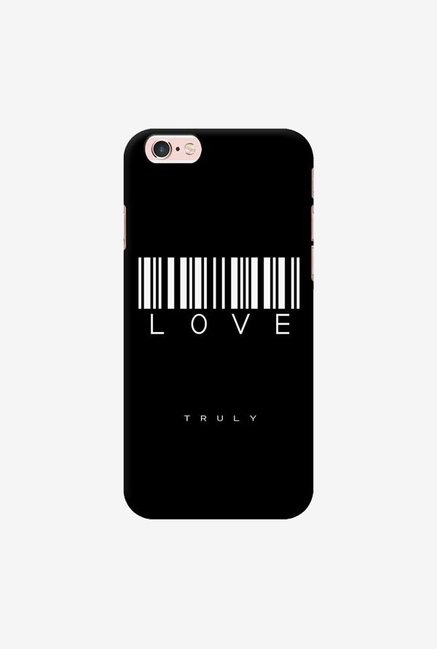 DailyObjects Barcode Love Truly Black Case For iPhone 6s