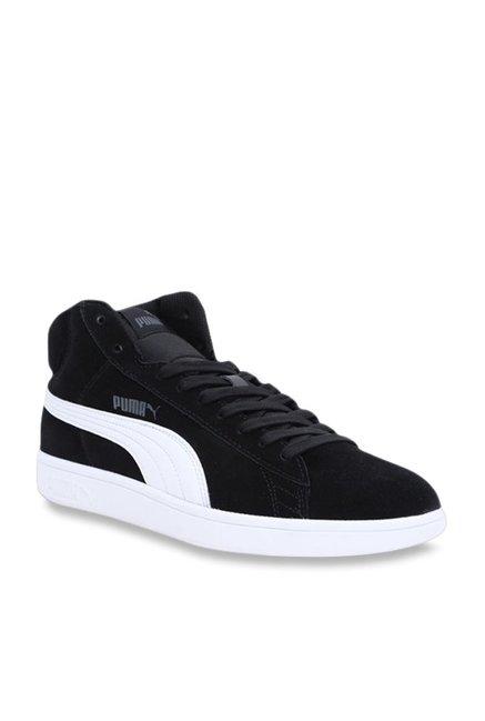 Buy Puma Smash V2 Mid SD Black Ankle