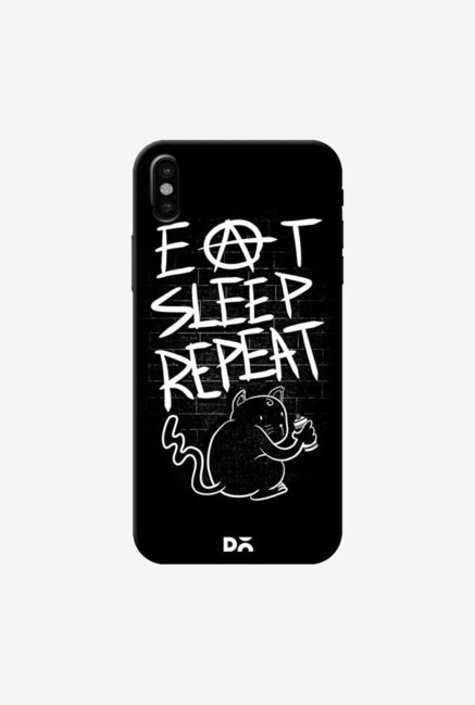 DailyObjects Eat Sleep Repeat Case Cover For iPhone XS