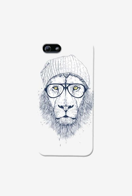 DailyObjects Cool Lion White Case For iPhone 5/5S