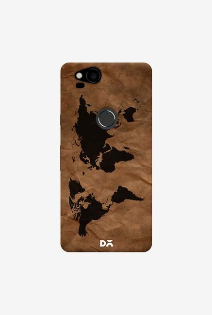 DailyObjects Wrinkled World Map Case Cover For Google Pixel 2