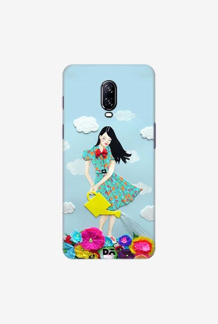 DailyObjects Girl In Flowerland Case Cover For OnePlus 6T