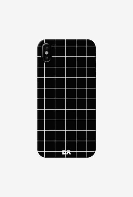 DailyObjects Grid Black Case Cover For iPhone XS