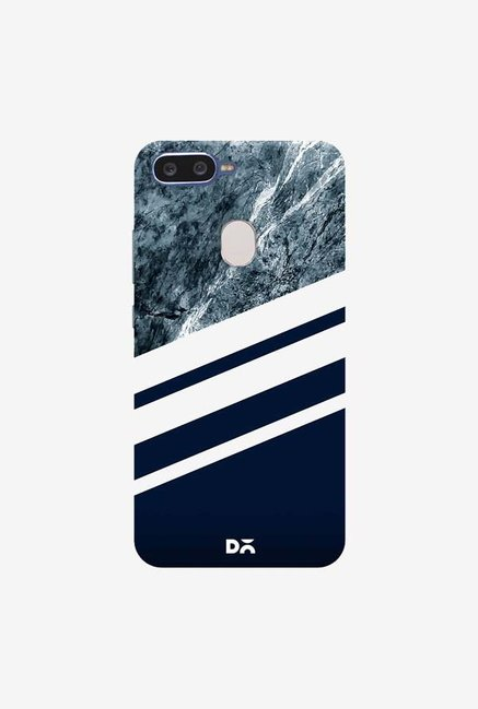 DailyObjects Marble Navy Case Cover For Oppo F9 Pro