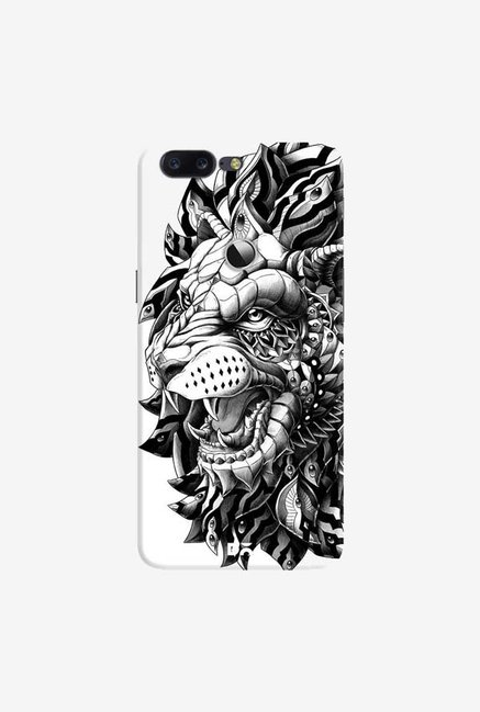 DailyObjects Ornate Lion Case Cover For OnePlus 5T