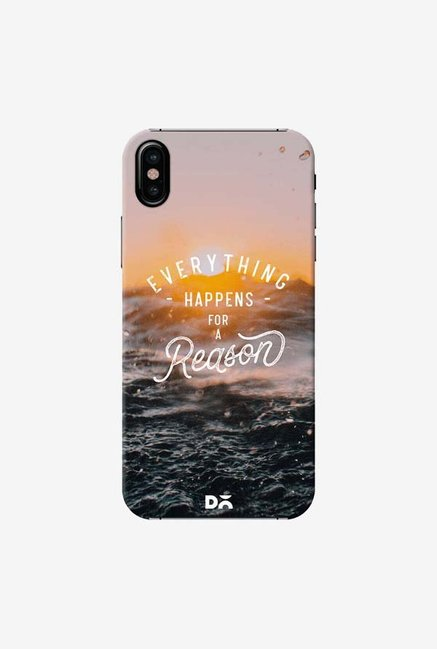DailyObjects Happens For A Reason Case Cover For iPhone XS