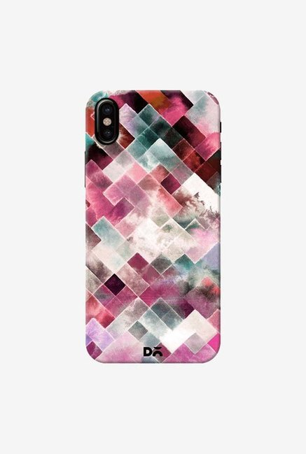 DailyObjects Moody Geometry Pink Case Cover For iPhone XS