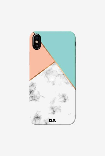 DailyObjects Marble Pink Green Case Cover For iPhone X