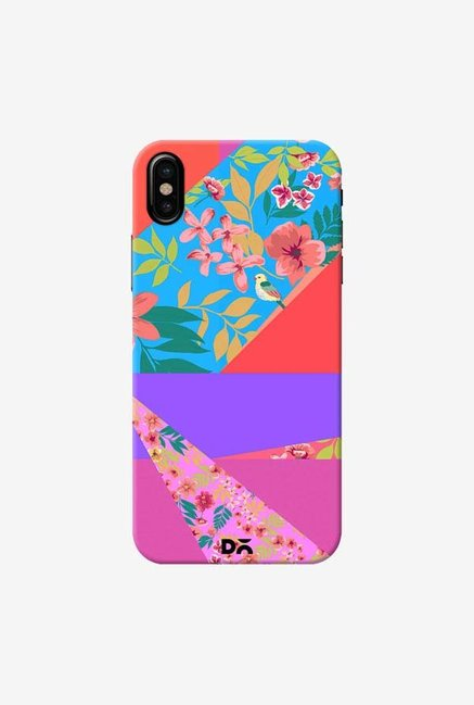 DailyObjects Floral Diagonals Case Cover For iPhone XS