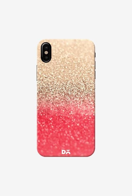 DailyObjects Gatsby Coral Gold Case Cover For iPhone XS