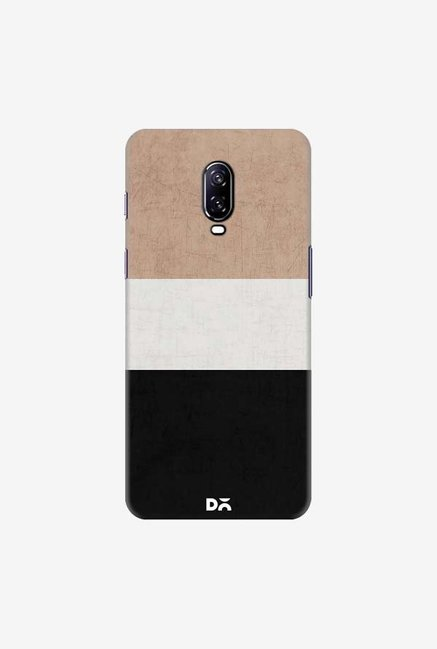 DailyObjects Natural Cream and Black Case Cover For OnePlus 6T