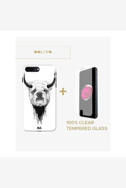 DailyObjects Bull Dog Case For iPhone 7 Plus Combo