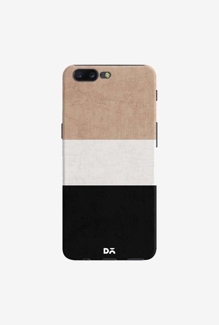 DailyObjects Natural Cream and Black Case Cover For OnePlus 5